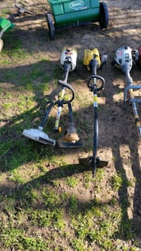 3 Weedeaters with Blower & Edger Attachments