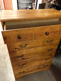 Brown wooden 5-drawer chest Falls Church, 22042