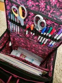 Scrapbooking case on wheels comes with everything  Canton, 44708