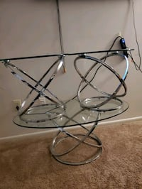 Silver glass top 3 piece center table Maryland City