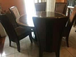 Table & 6 chairs! Negotiable Price!