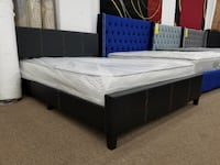 Black brown or gray color queen size platform bed with queen mattress 47 km