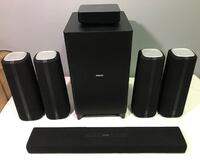 AS-IS PHILIPS ZENIT 5.1CH CINEMA SPEAKERS (CSS5530B/37) - FJN Cambridge, N1P 1E3