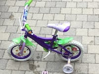 toddler's purple and green bicycle with training wheels Toronto, M6R 1Z8