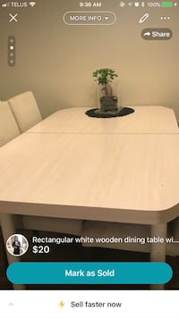 White wooden table Calgary, T2A 3P3