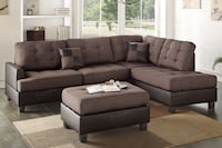 New Couch Sectional. Chocolate. Free Delivery ! Los Angeles