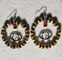 pair of black-and yellow beaded hook earrigns Clinton, 20735