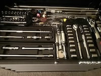 stainless steel socket wrench set with case