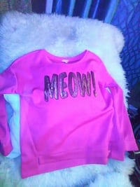 pink and Brown Meow! print sweater