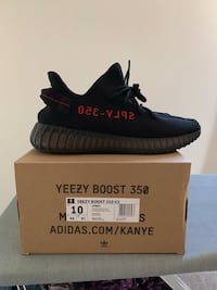 pair of black adidas Yeezy Boost 350 v2 with box Frederick, 21703