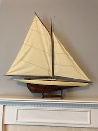 Decorative wooden sailboat 42in x 42in Holly Springs, 30115