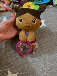 Bright starts doll rattle toy new