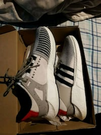 pair of white-and-black Adidas sneakers St. Catharines, L2M 3P5