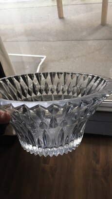 clear cut glass container