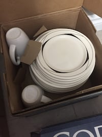 white ceramic plates and cups Brantford, N3R 2E9
