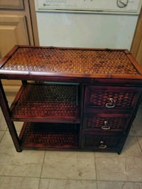 Wicker Stand with 3 drawers Saratoga County
