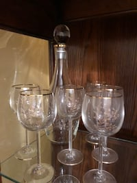 Decanter with glasses (2 sets available ) Vaughan, L6A 1J6