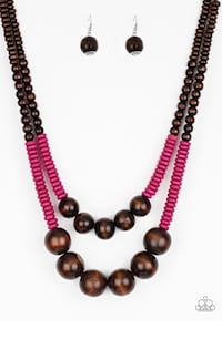 brown and red beaded necklace Bladensburg, 20781