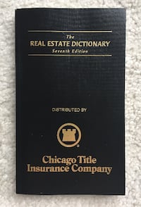 Book - The Real Estate Dictionay.