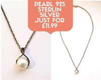 Pearl 925 Sterlin Silver Necklace  Greater London, WC1A 2LP