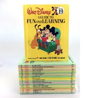 Walt Disney Fun To Learn Library Books 1-19 Complete Series Vintage 1983 1st Ed Port Colborne
