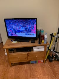 Brown Wood TV Stand Union City