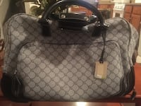 monogrammed gray Gucci leather handbag Elizabeth, 07201