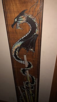 Hand drawn  serpant dragon on pine wood panel i have 3 cant seem to get pics of the others loaded colors are green and reddish  Kaukauna, 54130