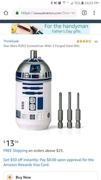 R2D2 Screwdriver (new, still in packaging) Baltimore, 21229