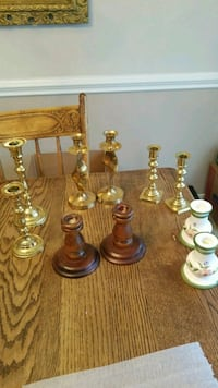 brass and clear glass candle holders Montclair, 22025