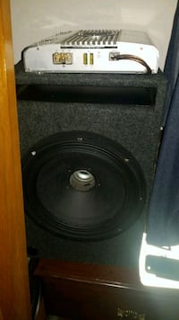 12 inch sub with ported box and amp  Kitchener, N2N 3K6