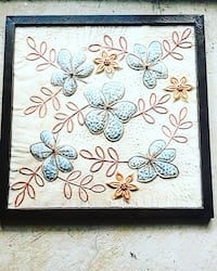 wall decor- floral indoor/outdoor wall hanging paint