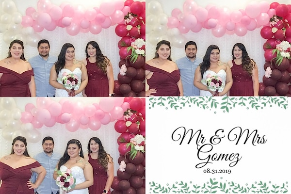 Photo Booth and Balloon Backdrop