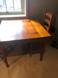 Kitchen table chairs new upholstery needed real wood Columbia, 21044