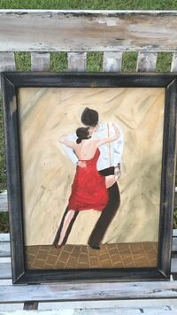 brown wooden framed painting of woman Lillington, 27546