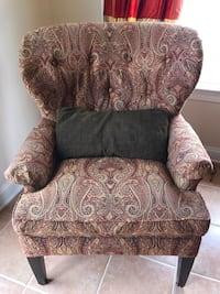 Wingback reading chair and Ottoman
