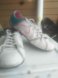 pair of white-and-pink puma sneakers Edmonton, T5H 2Z8