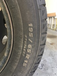 Winter tires with rims_195/65/15 Surrey, V4N 0R2