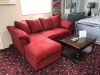 Red Darcy sofa chaise
