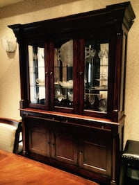 Walnut wooden glass China/Buffet Hutch Brampton, L6T 5E7
