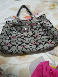 black and gray Coach monogram tote bag San Diego, 92105