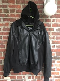 Men's leather Guess jacket XL
