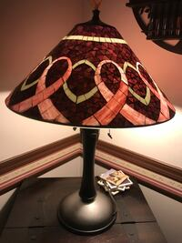 Tiffany style lamps with butterflies and breast cancer ribbons Irmo