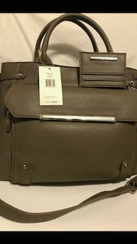 brown and black leather bag Chicago