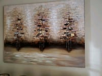 brown wooden framed painting of trees Alexandria, 22310