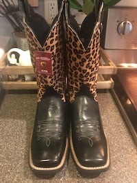 Ariat leopard leather boots