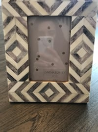Gray and white picture frame