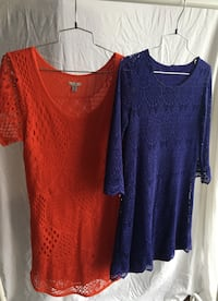Two red and blue scoop-neck shirts Toronto, M5V