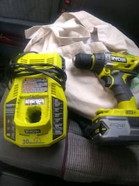 Ryobi cordless brushless drill! With charger and big battery