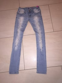 blaue Denim Distressed Jeans Fellbach, 70736